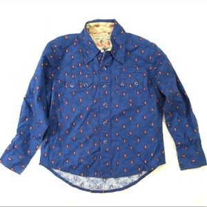 Wrangler Western Cowboy Dress Shirt 5/6